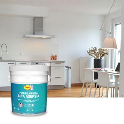 Pintura Acrílica para Interior Alta Asepsia 5 Galones Blanco