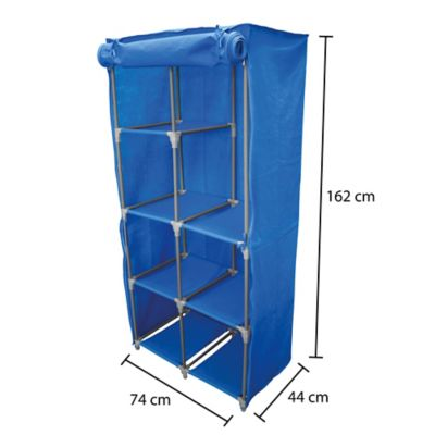 Closet Portátil De Tela 73x161x44 Azul Rey