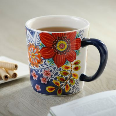 Mug 10.2x13.5x10.5cm Floral Blue