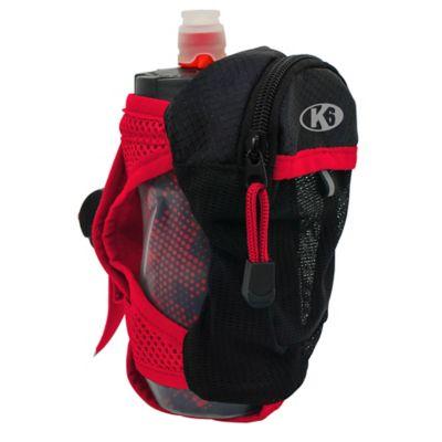 Bolso de Mano para Correr con Botella de Agua 350Ml Running Rojo