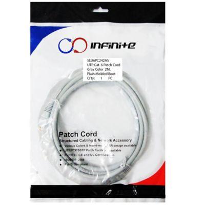 Patch Cord Categoría 6 de 2 Metros Gris x3 Und