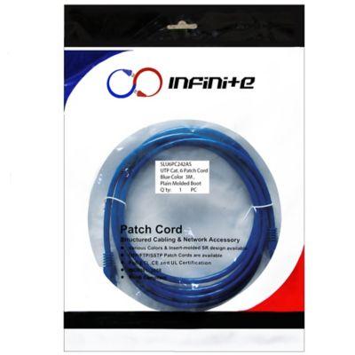 Patch Cord Categoría 6 de 3 Metros Azul x3 Und