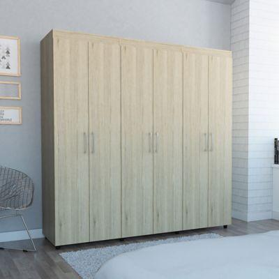 Closet Amatista 181x180x51cm Rovere-Blanco