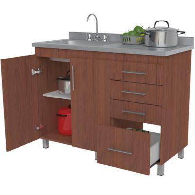 Mueble Para Cocina Modular Inferior 92 cm Alto x 120 cm Ancho x 52 cm Profundidad Cedro