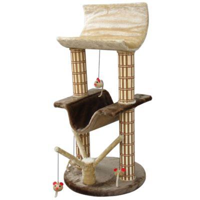 Reposera para Gato con Poste Bambú