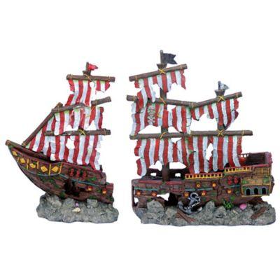 Decoración para Acuario Barco Pirata Largo