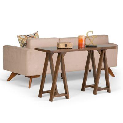 Mesa Lateral Sawhorse 42x75x127 Café