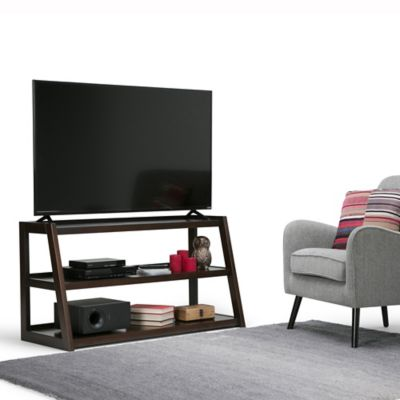Mueble para TV Sawhorse 51x66x122 Castaño