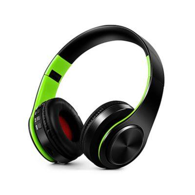 Audífonos Inalámbricos Bluetooth Estéreo Plegables Verde