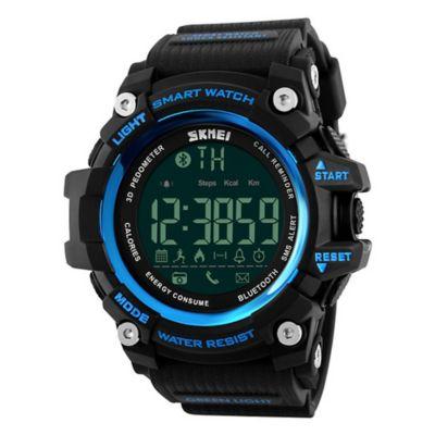 Smartwatch Digital Luz Fondo Negro Azul 1227