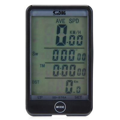 Velocímetro Ordenador Bicicleta LCD Impermeable SD-576A Negro