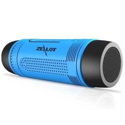 Parlante Linterna Bluetooth Bicicleta Luz Led S1 Azul