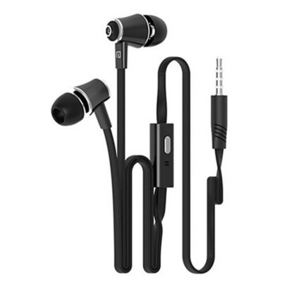 Audífonos Manos Libres JM21 Estéreo 3.5mm Micrófono Negro