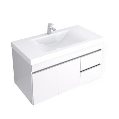 Mueble de baño Viteli Ceniza 94x48 cm con lavamanos Siena Blanco