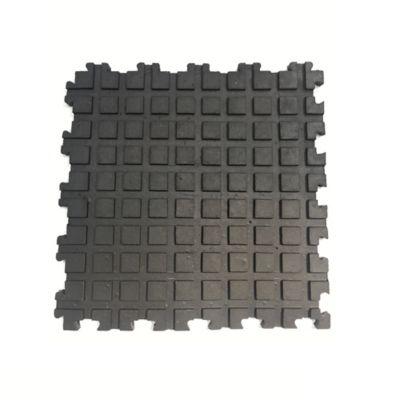 Tapete Acanalado Liso 50x50cm Tráfico Pesado Negro 4 Unidades