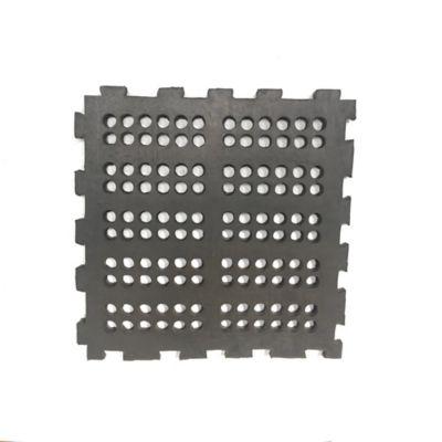 Tapete Perforado Liso 50x50cm Tráfico Pesado Negro x 4 Unidades