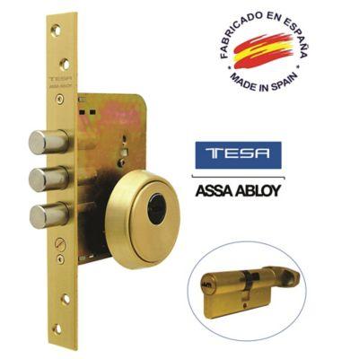 Cerradura Auxiliar Alta Seguridad Antiganzua Bronce