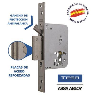 Cerradura Auxiliar Alta Seguridad Antipalanca Acero Inoxidable