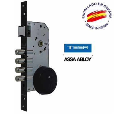 Kit Entrada Alta Seguridad Pomo-Manilla Negro