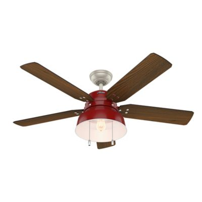 Ventilador Techovalley 52 Pulgadas Rojo 5W 5537 cfm