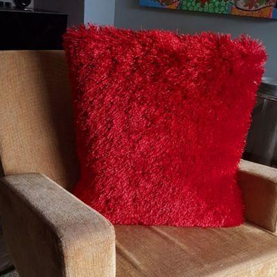 Cojín en Tela Plain Silk 45x45 cm Rojo
