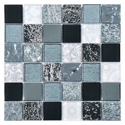 Mosaico Malla Elements 30x30cm Negro