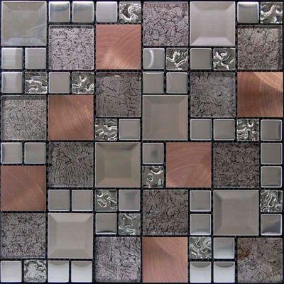 Mosaico Malla Kaos 30x30cm Plata