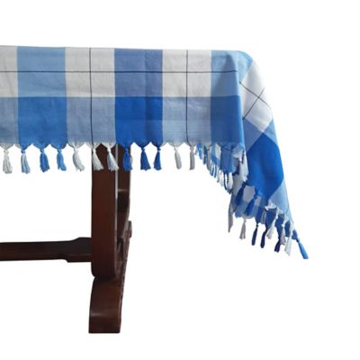 Mantel Azul Rey/Azul Cielo 1.50x1.50m Hecho A Mano