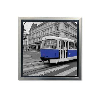 Cuadro Decorativo Urbano Azul 45x45x2 cm