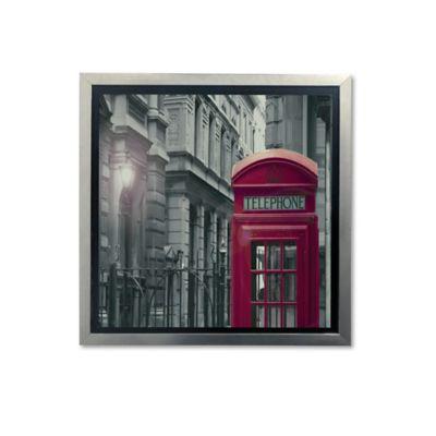 Cuadro Decorativo Urbano Rojo 45x45x2 cm