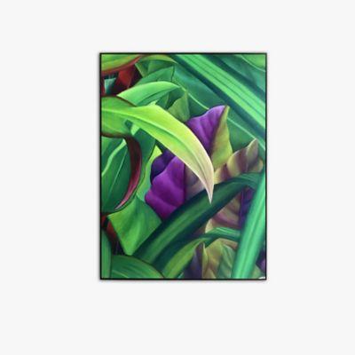 Retablo Hoja Morada 40x60x3 cm