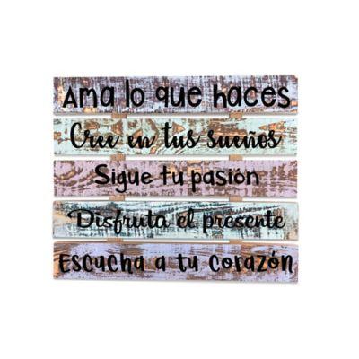 Frases Madera Rústico 39x45