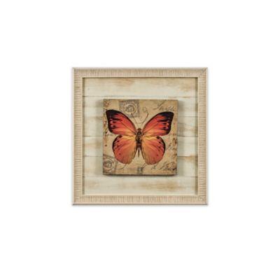 Cuadro Mariposas Naranja 30x30