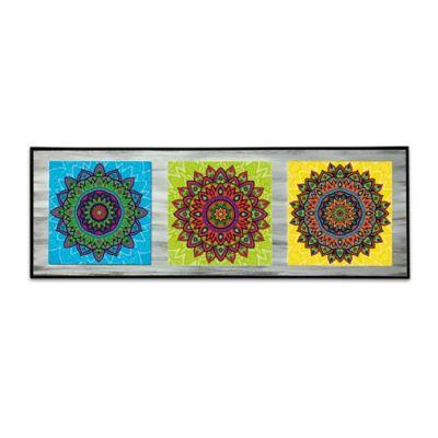 Cuadro Tríptico Mandalas 6 22x56