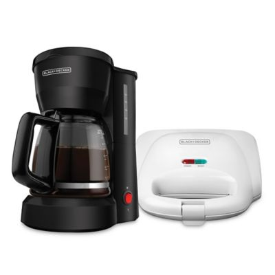 Combo Cafetera 5 Tazas + Sanduchera DCM601B/SM1000W