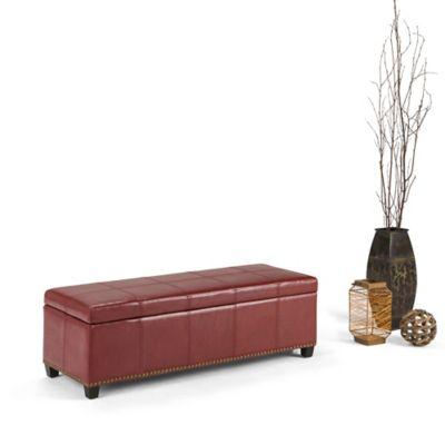 Ottomano Kingsley 45x122x41 Rojo