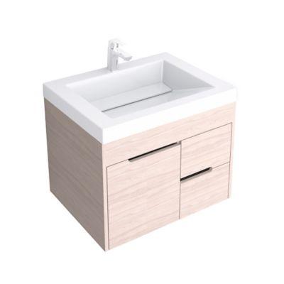 Mueble Elevado Tiziano 63x48cm Blanco/Soder + Lavamanos Genova Blanco