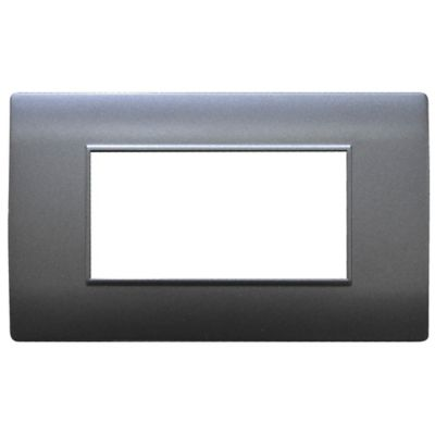 Tapa Color Gris Modul Doble Uduke Línea Bk Plus