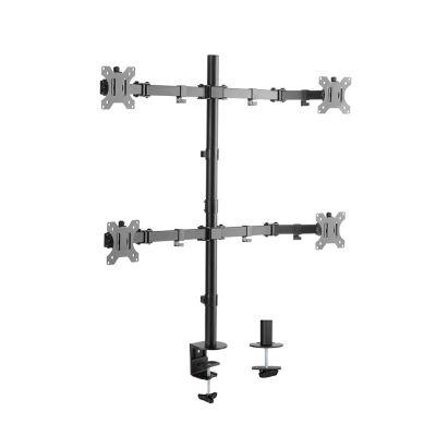 Soporte para Monitor de 13 a 27 Pulgadas de Brazo Cuadruple Aluminio