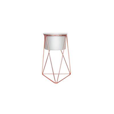 Soporte para Matera Piramidal 10x15cm Cobre-Blanco