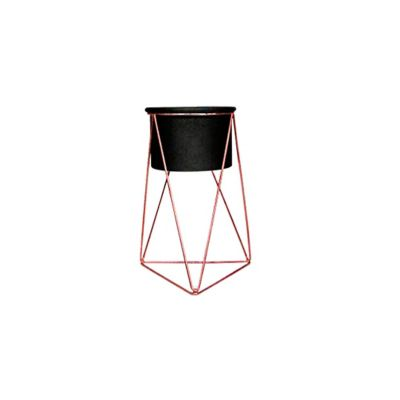Soporte para Matera Piramidal 10x15cm Cobre-Negro