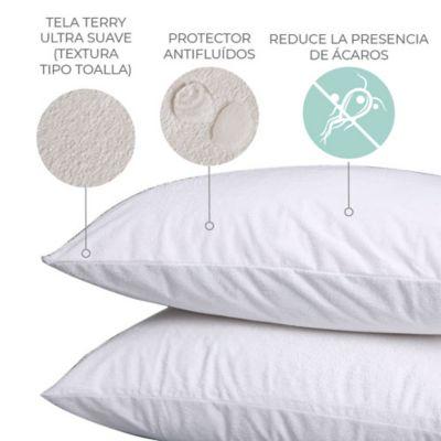 Protector de Almohada Terry 100% Impermeable 90x50 cm