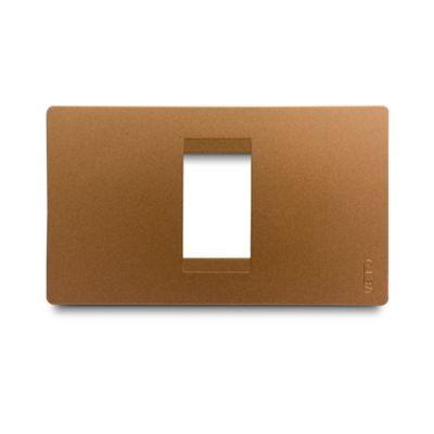 Placa Stilo Interruptor 1H Cobre Veto