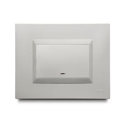 Interruptor Conmutable Simple Blanco Plura Veto
