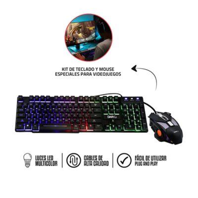 Kit Gamer Teclado Y Mouse Especial Para Videojuegos
