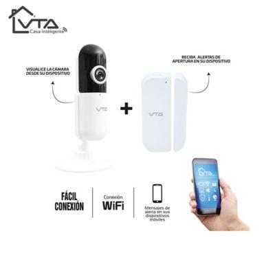 Kit De Seguridad Casa Inteligente Cámara IP + Sensor