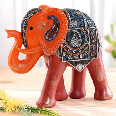 Elefante Moroco Rojo 25.4 cm