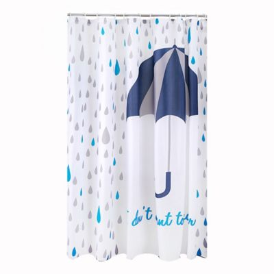 Cortina Baño Poliéster Umbrella 178x180 cm