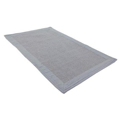 Tapete Baño Algodón Frame 50x80 Gris