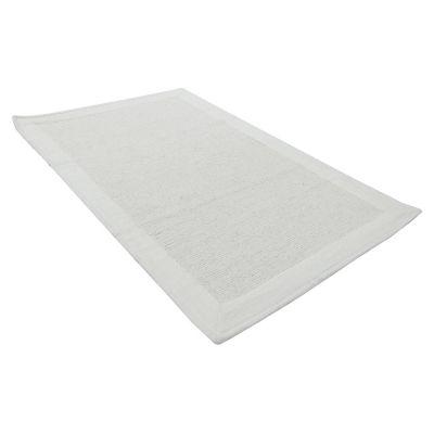 Tapete Baño Algodón Frame 50x80 Blanco